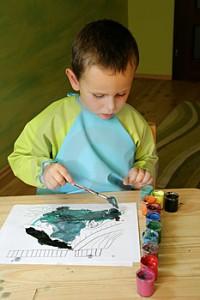 üvegfestés gyerekkel